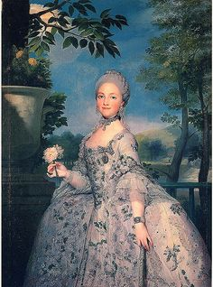 Marie Louise of Parma, granddaughter of Louis XV, who married King Charles IV of Spain.