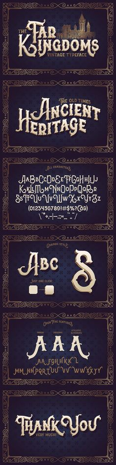 The Far Kingdoms font. Display Fonts. $15.00