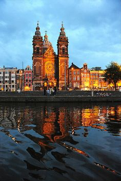 Canal Reflections of St. Nicholas ~ Amsterdam, Netherlands