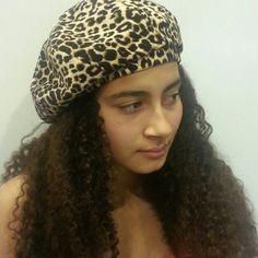 """SOLD!  Animal Print Beret Cheetah velvet animal print beret  9 pie slice sections with a self fabric loop in the middle. Black satin lining inside. Elastic 3/4"""" band for a snug fit.Circumference is 23"""" with a eased elastic for a perfect_fit. August Accessories Hats"""