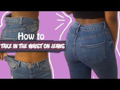 How to take in the waist on a pair of jeans fashion fix ep 6 birabelle > happy to find this because it s a problem with every pair of shorts pants or jeans i ve ever tried Diy Jeans, Sewing Jeans, Sewing Clothes, Jeans Fit, Jeans Style, Diy Ripped Jeans Tutorial, Altering Pants, Altering Clothes, How To Make Jeans