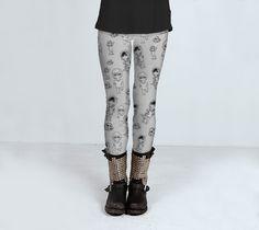 Cute Zombies (hipster, emo &skulloons) by Jojo Neon Starr (Leggings) - Art of where