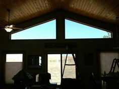 Advanced Equipment Window Tint - the inside of the home prior to completion of film