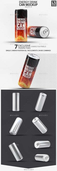 GraphicRiver Energy Drink Can Mock-Up