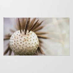 Nature Floor Rug - Floor Mat - Room Rug - Dandelion Photograph - Bathroom Rug - Made to Order (56.00 USD) by ShelleysCrochetOle
