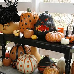 Love these decorated pumpkins!