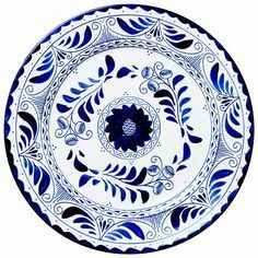 Pottery Painting Designs, Pottery Designs, Blue Pottery, Pottery Art, Photo Frame Maker, Vintage Waves, Coffee Poster, Blue Plates, Plates On Wall