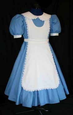 alice in wonderland dress this pinny would be easy to make over most any blue dress