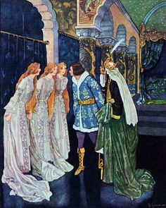 'Zlatovláska / Princess Goldielocks' by Karel Jaromír Erben, illustrated by Artuš Scheiner. First published 1911.