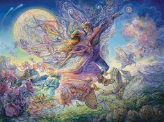 Josephine Wall Wallpaper | Masterpieces 500 Parça Puzzle Titania & Oberon - Masterpieces ...