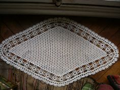 vintage crochet doilytable runnercenter piece by Lepapadesmatous, $35.00