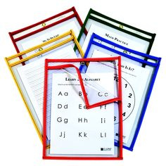 Reusable Dry Erase Pocket