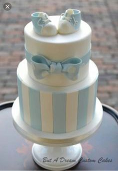 Baby blue shower cake by elisabeth palatiello christening cake boy simple, boy baptism cakes, Torta Baby Shower, Baby Shower Pasta, Baby Shower Cakes For Boys, Baby Boy Cakes, Baby Boy Shower, Babyshower Cake Boy, Baby Showers, Simple Baby Shower Cakes, Girl Cupcakes