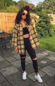Casual Fall Outfits for Teens: Baddie Style - Nerd - # . - Casual Fall Outfits for Teens: Baddie Style – Nerd – Baddie Outfits For School, Teenage Outfits, Pin Up Outfits, Casual Summer Outfits, Mode Outfits, Trendy Outfits, Girl Outfits, Fashion Outfits, Cute Flannel Outfits