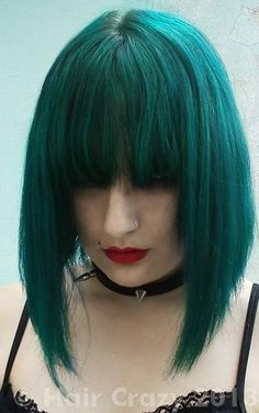 Green Hair Color Brands | rigelblack - Sonic Green is a hard color to photograph. I guess this ...