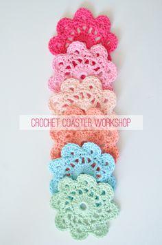 Colour inspiration: Pretty Pastel Crochet Coasters | The Yvestown Blog
