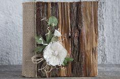 Wedding rustic album/Wood wedding rustic lace by lechoixdelamariee