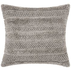 "Joseph Abboud Gray 22"" Square Decorative Throw Pillow - Style # 9N162"