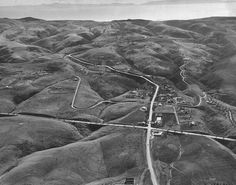 1930's photo of Portuguese Bend Road and Palos Verdes Dr North (the house in which I grew up is near top of photo)
