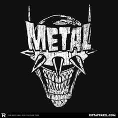 Heavy Metal Laughing-Bat T-Shirt Batman Who Laughs T-Shirt Designed and Sold by illproxy ha! Batman Metal, Batman Dark, Arte Heavy Metal, Heavy Metal Tattoo, Metal Drawing, Dark Art Photography, Band Stickers, Bike Poster, Thrash Metal