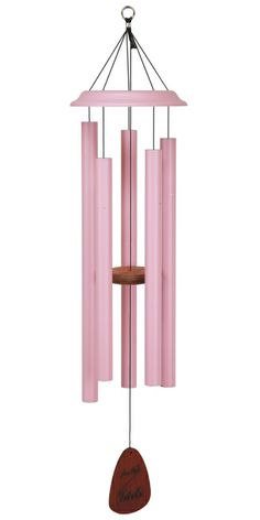 Have a few of these hanging from ceiling surrounding tree? Pink Wind Chime Support Breast Cancer Research