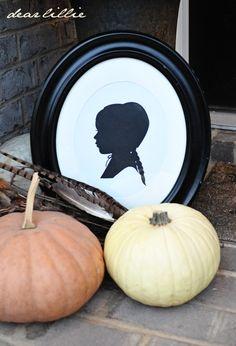 Pilgrim Girl Cardstock Silhouette Set - from Dear Lillie