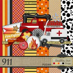 Digital Scrapbooking 911 By Dandelion Dust Designs #DandelionDustDesigns #DigitalScrapbooking