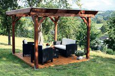 Pavillon SKANHOLZ Marseille 4-Eck Pavillion Holzpavillon - Perfekt für eine…