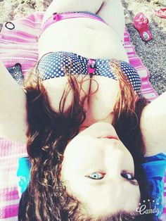 Summertime relaxation  #summer #beach #girl #swimsuit #tanning #pale #blueeyes #Greece
