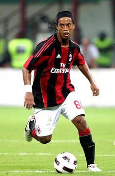 Ronaldinho with his current club AC Milan .