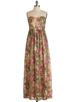A Chance Romance Dress. Romance is in the air everywhere you go in this strapless maxi dress!  #modcloth