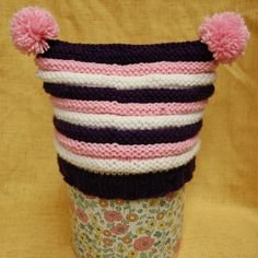 Keep your baby both fashionable and warm with the help of the Double Pom-Pom Baby Hat.