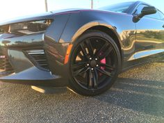 2016 camaro ss nightfall grey with pink accent