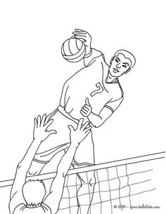 Add Some Colors Of Your Imagination And Make This Volleyball Quick Attack Action Coloring Page Nice Find Pin More On Sports Pages