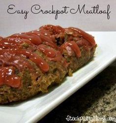 Easy Crockpot Meatloaf Recipe