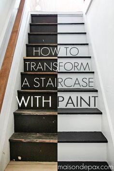 Step by step instructions on how to paint stairs - amazing transformation! maisondepax.com