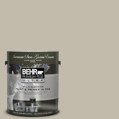 Behr Paint Wilderness Gray -- neutral tone for most walls.