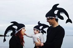 Who knew that there is a pleasant way of getting feasted upon by an orca. I think orcas are some of the most incredible sea creatures. Orcas, Whale Costume, Under The Sea Costumes, Shark Hat, Baby Shark, Chicken Hats, Crochet Character Hats, Knitted Hats, Crochet Hats