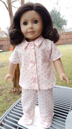 1950's Style Sweet Rosebud Pajamas for AG by Designed4Dolls on Etsy  $16.95