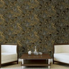 A brand new fantastic wallpaper from Debona This wallpaper features a liquid marble pattern finished with glitter metallic touches to give a luxurious finish A an on-trend design that will add character to any room #wallpaperdepot #wallpaper #interior #interiordesign #interiordecor #interiors #home #homedecor #walldecor #bedroom #kitchen #bathroom #kitchen #wallart #renovation #geometric #marble #glitter Wood Effect Wallpaper, Wallpaper Uk, Luxury Wallpaper, Contemporary Wallpaper, Gold Metallic Wallpaper, Glitter Wallpaper, Fantastic Wallpapers, Stunning Wallpapers, Geometric Decor