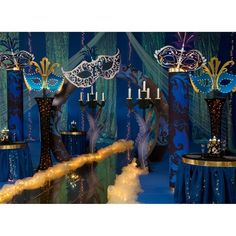 Mysterioso Complete Prom Theme-Love, love, love the colors in this Masquerade theme! This would be my pick for Prom 2016!
