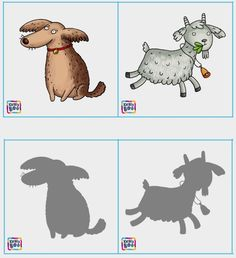 Jogo das sombras: imprima um jogo de silhuetas com o tema animais! | Reab.me