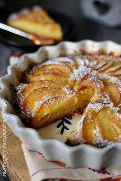 the Fondant apple cake 5 4 3 2 1 Apfelkuchen, Blaubeerekuc French Desserts, Apple Desserts, Apple Recipes, French Recipes, Easy Cake Recipes, Sweet Recipes, Lebanese Desserts, Easy Sugar Cookies, French Pastries