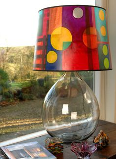 Hand painted lampshades by TMO Lighting