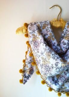 June: Antique Flower Triangle Scarf