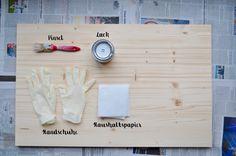 Hintergrund aus Holz - günstig & einfach selber machen