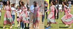 Kate shows off her sporty side as she plays cricket in India