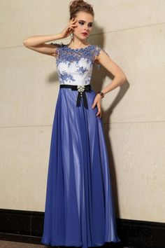Classical Elegant Fashion Dark Royal Bule Formal Dresses With Applique AU Formal Gowns 2017 Formal Dress Cheap Formal Dresses, Wedding Dresses Plus Size, Formal Evening Dresses, Formal Gowns, Nice Dresses, Gowns 2017, Prom Dresses 2016, Bridesmaid Dresses, A Line Evening Dress