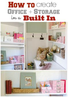 Decorating our back door built in bookcase {makeover}
