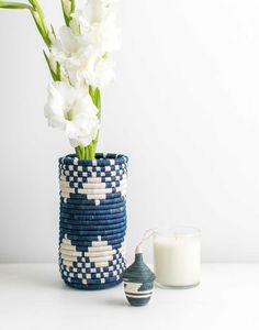 d30429c227 Blue Diamond Woven Fair Trade Vase